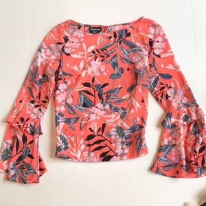 BEBE floral blouse.